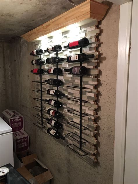 custom wine rack lmc construction  carpentry