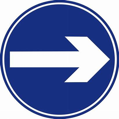 Sign Right Turn Road Mandatory Svg Signs