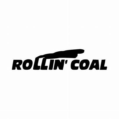 Rollin Decal Coal Soot Vinyl Options Sticker