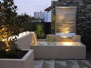 Outdoor garden wall lights, contemporary outdoor water