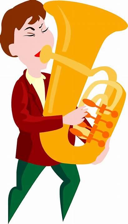 Tuba Clip Cartoon Playing Clipart Options