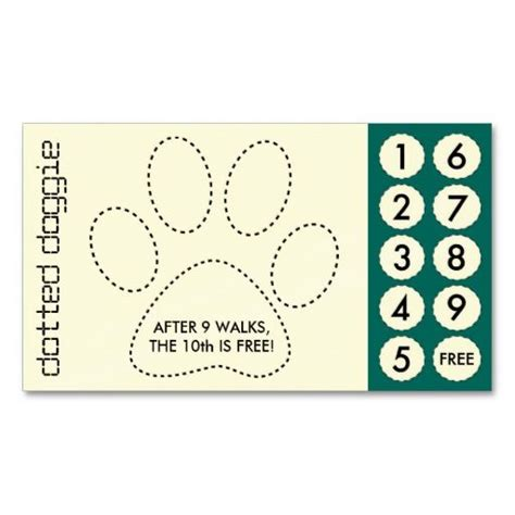 dog walker cut  punch cards  dogs punch  infos