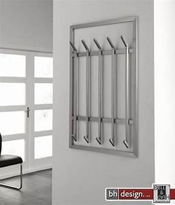 Garderobe Design Edelstahl : carry line garderobe lang mit 5 haken aus edelstahl mit sicherheitsglas 100 x 65 cm powered by ~ Sanjose-hotels-ca.com Haus und Dekorationen