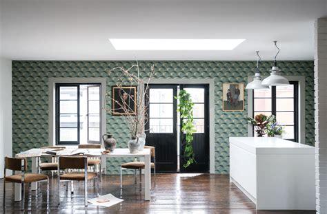 interior designer homes farrow channels the 1940s in wallpaper
