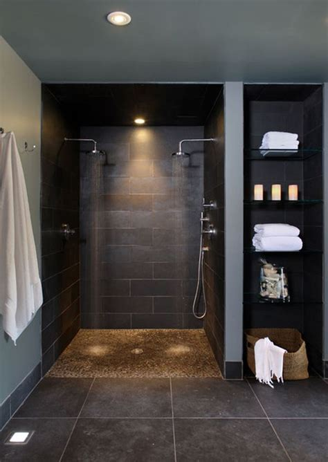Bathroom Slate Tile Ideas by 33 Black Slate Bathroom Floor Tiles Ideas And Pictures
