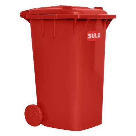 Mini Dustbin 120l, Red