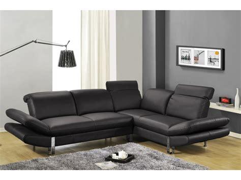 canape angle noir salon avec canape noir