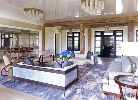 hampton beach house beach style living room  york