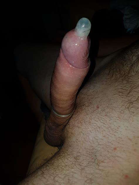 My Uncut Penis Dick Cock Condom And Cum 7 Pics