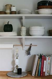 How, To, Style, Open, Kitchen, Shelves, For, Autumn