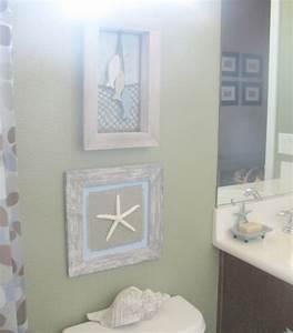 Beach bathroom wall decor