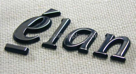 Letters, Logos, Plastic, Metal, Custom, Chrome Plated, 3-d