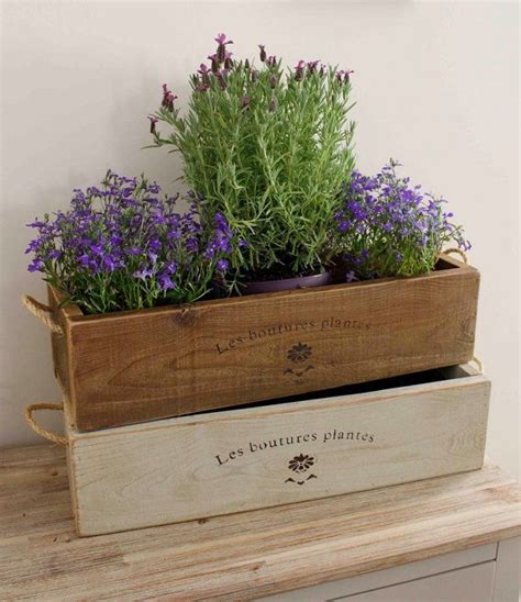 Indoor Herb Pots Window Box by Vintage Style Trough Planter Rustic Planter Trough