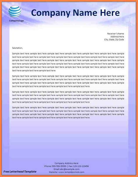 creating  letterhead template  word company letterhead