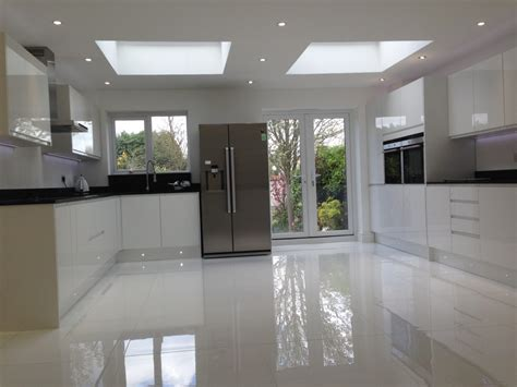 glass tile backsplash ideas gloss white kitchen floor tiles trends in interior