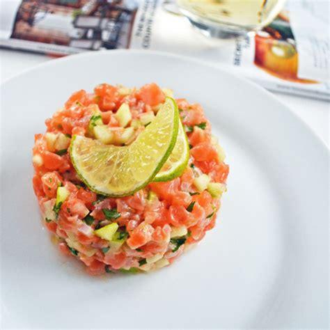 cuisiner tomates tartare de saumon à la smith lime et coriandre par