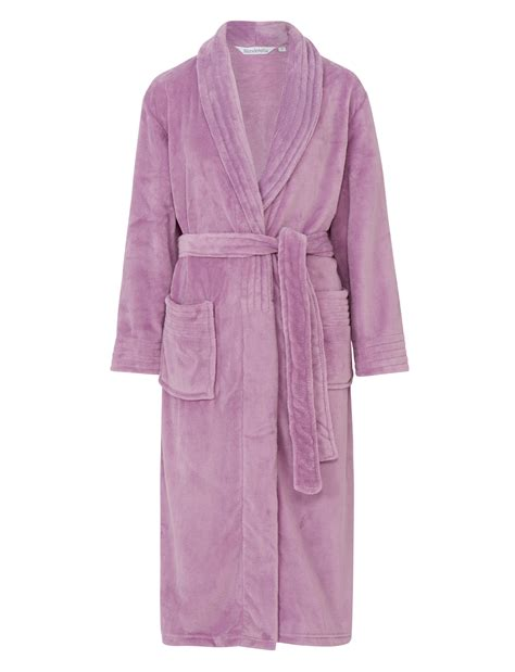 robe de chambre de luxe pour femme slenderella femmes enveloppant polaire souple robe de