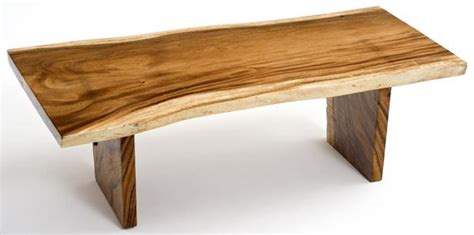 Furniture Natural Wood Color Wall Shelf Home Decor: Natural Slab Coffee Table