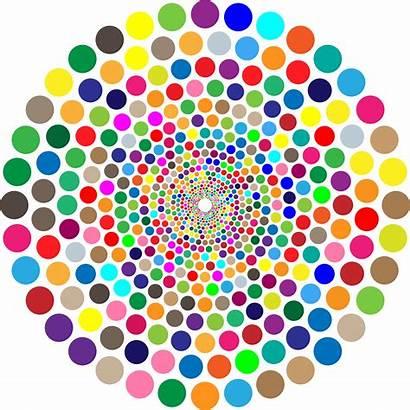 Circles Concentric Colorful Vortex Circle Svg Clipart