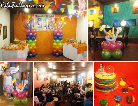 fiesta theme balloon decoration  mooon cafe guadalupe