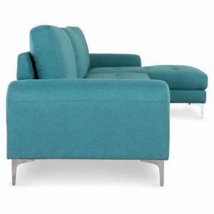 Canapé Droit 5 Places : canap 5 places 39 kot 289cm bleu angle droit ~ Premium-room.com Idées de Décoration