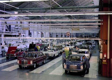 mercedes factory topical advertising assembly lines ran when parked