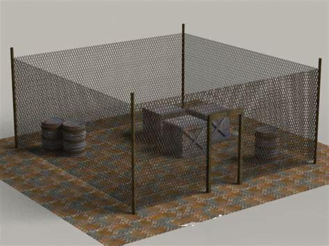 military chain link fencing  model  studioautodesk