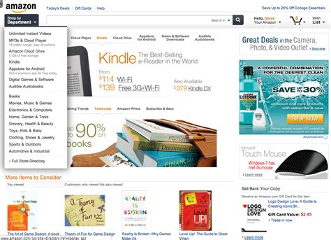 amazon  testing  slick  site design perfect  tablets