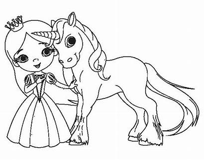 Unicorn Princess Coloring Pages Printable Getcolorings Col