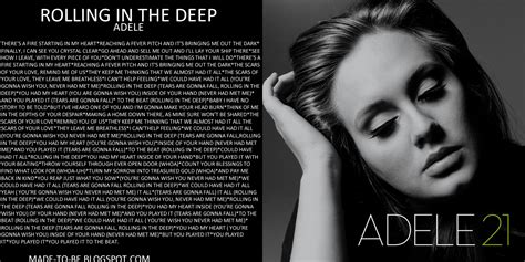 Adele Rolling In The Dep