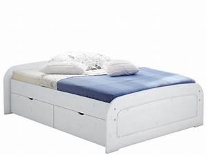 Bett Mit Bettkasten 160x200 Weiß : bett ronja 160x200 wei lasiert mit 1x bettkasten set ~ Bigdaddyawards.com Haus und Dekorationen