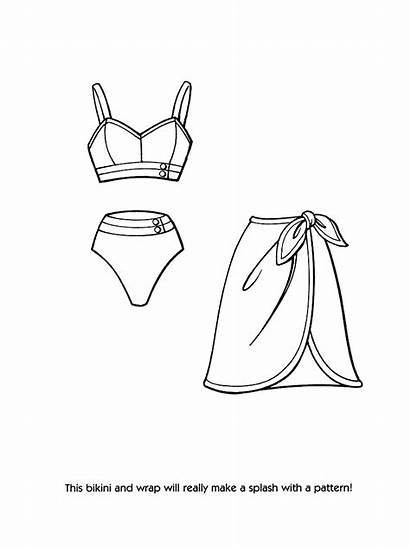 Coloring Barbie Pages Clothes Printable Dresses Getcolorings