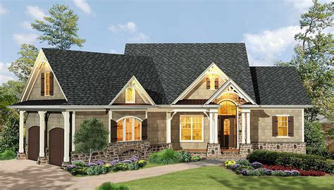 gabled  bedroom ranch home plan ge architectural designs house plans