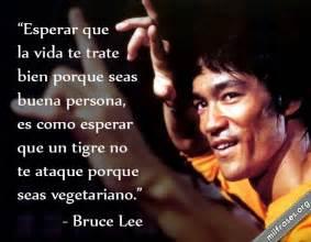 Vinci Sié E Social Frases De Bruce Esperar Que La Vida Te Trate Bien