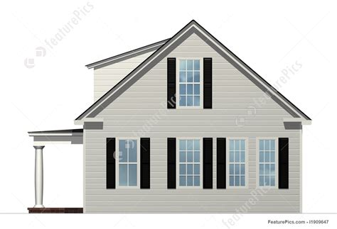 house porch side view illustration of side view of house