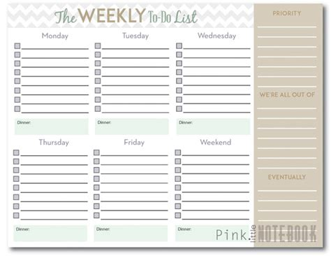 weekly to do list template the ultimate weekly to do list free printable pink notebookpink notebook
