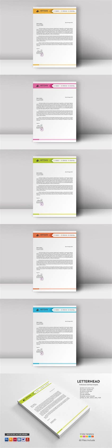 Letterhead Template in 2020 Letterhead template