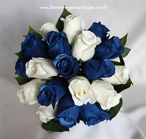 Wedding Bouquets: White And Blue Wedding Bouquets
