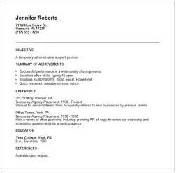 temp agency resume objective relations and human resources resume exles
