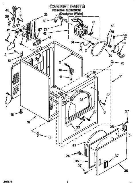 cabinet diagram parts list  model lereq