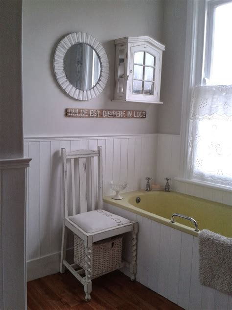 Gorgeous Beige Wainscoting Small Bathroom Design Combined