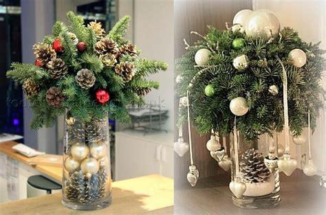 decorations de noel en tiges  branches de sapin