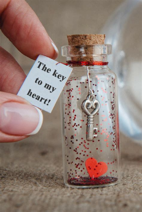 personalized gift  girlfriend message   bottle gift