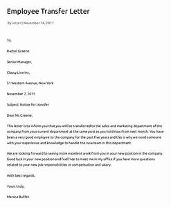 12 employee transfer letter templates pdf doc free With transfer letter
