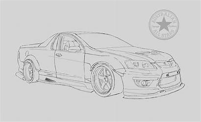 Holden Maloo Coloring Hsv Sketch Utes R8