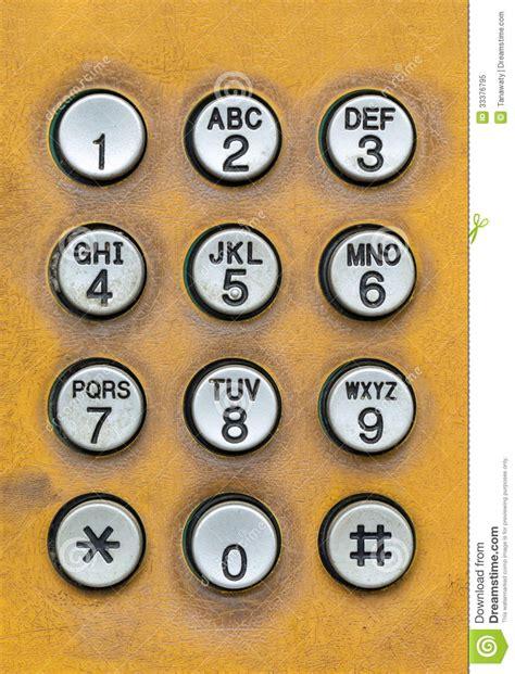 phone number pad pad of telephone box stock image image