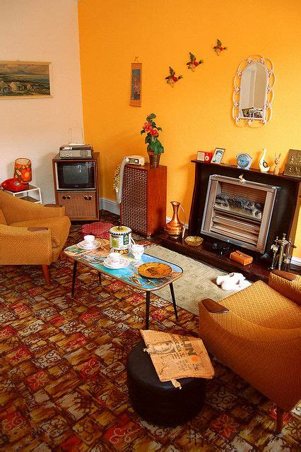 Retro Living Room Yellow by Living Room 1960s Decor My Parents Had A Yellow Wall In