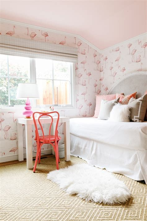pink and white wallpaper for a bedroom pink flamingo day the glam pad 21139