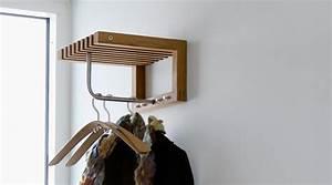 Garderobe Edelstahl Holz : garderobe cutter mini von skagerak i holzdesignpur ~ Frokenaadalensverden.com Haus und Dekorationen