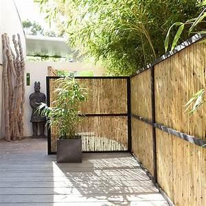 canisse bambou flexible naturel 3 x h15 m canisse With brise vue avec jardiniere 2 brise vue naturel castorama